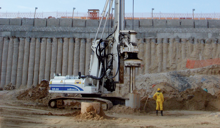 Drilling rig & in-situ piling (CFA)