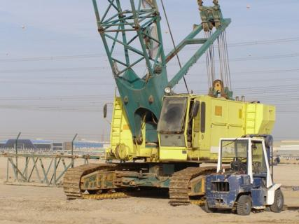 Crawler Crane (90 ton),designed for dynamic compaction