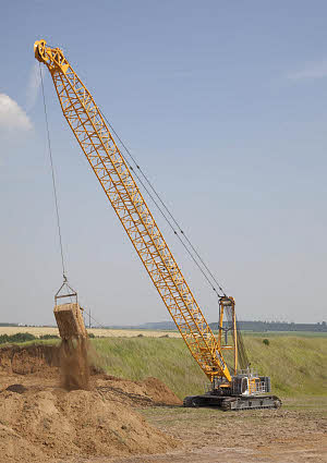 Crawler Crane (220 ton),designed for dynamic compaction